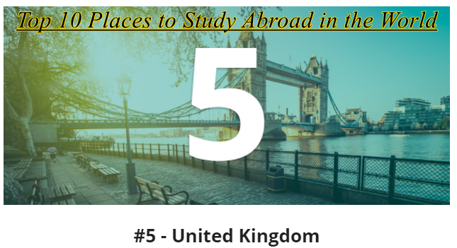 Top 10 Places to Study Abroad in the World